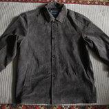 Прямая замшевая коричневая куртка в рубашечном стиле Hathavay. Сша.xxl