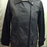 Деми пальто - плащ тренч с кожаными рукавами от Atmosphere