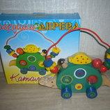 Деревянные игрушки - пальчиковые лабиринты большие , лабиринты-каталки