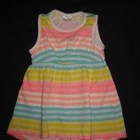 яркое платье туничка на 3-9 месяцев F&F