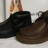 новые отличные для школы кожаные ботиночки Hush Puppies в 32,34, 35 и 38 размере