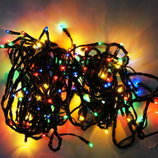 Гирлянда световая, несколько режимов 8 переключения 3,8 метра двойной закрутки шнур с лампочками