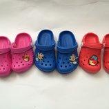 Кроксы синие красные розовые для девочки и мальчика