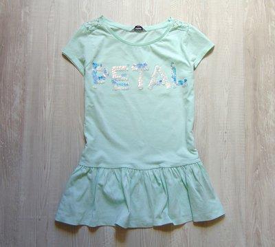 Нежная футболочка с баской для девочки или мамы. Tammy. Размер на рост 176 см, 14 лет или полная М.