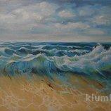 Картина маслом на холсте Морской пейзаж