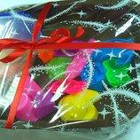 Подарочный набор кинетический цветной песок 1кг 18 Пасочек Песочница