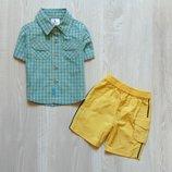 Яркий и стильный комплект для модника. Размер 0-3-6 месяцев