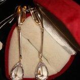 Суперстильные серьги-висюльки. Серебро 925 Камни - фианиты, замок - английский. Цена серьги - 420