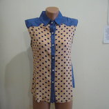 блузка женская без рукавов новая s m