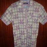 Мужская рубашка летняя, бу, р.XL