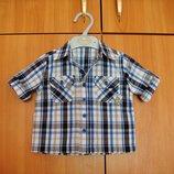 Детская рубашка шведка в клетку Mothercare