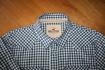 Продам круту рубашку Hollister р. Л на кнопках. Стан ідеальний. Заміри по запросу.