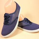 Удобные, красивые мокасины - слипоны из текстиля на шнурках. Размеры 36-41.