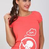 Облегающая футболка для беременных Alyva baby в двух цветах