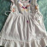 Беленькое платье с вышивкой