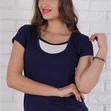Облегающая футболка для беременных и кормящих мам Larisa