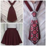 Юбка Солнце и галстуки для школы и не только. В наличии много цветов. S M L XL
