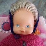 Немецкая кукла пупс Германия. Винтажная немецкая кукла пупс Гдр с нарисованными глазками.