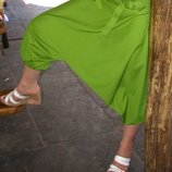 Легкие,летние яркие женские штаны-капри алладины галифе из100% хлопка.Салатный цвет.Таиланд.SM,44-46
