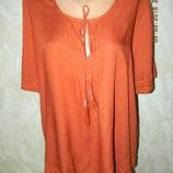 Летняя вискозная блуза с вышивкой