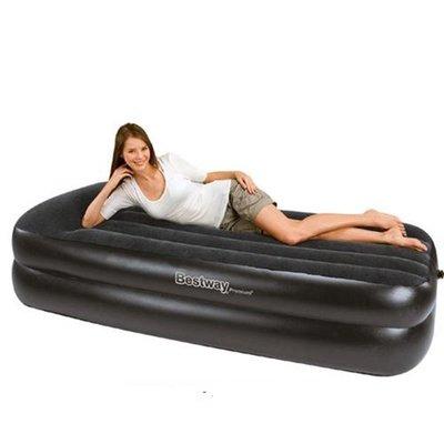 Велюр кровать с встроенным насосом. 67403 BESTWAY