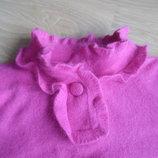 Кофта рр М нарядная стильная яркая розовая ангора свитер MEILI