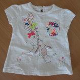 майка футболка 3 мес белая давочке детская новая Next Некст оригинал