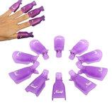 Прищепки-Зажимы многоразовые для снятия гель-лака,био-геля с ногтей.Разные цвета.