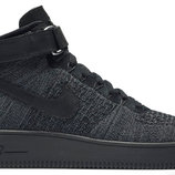 Мужские кроссовки Nike Air Force High Flyknit - черные