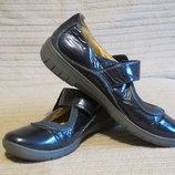 Мягчайшие комбинированные кожаные туфельки Clarks Unstructured 5 6 1/2 7 рр.