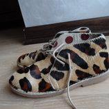 туфли 20,6 см ботинки кроссовки кожа детские девочке Next Некст оригинал