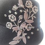 Шикарная стильная шляпа 100% шерсть