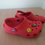Кроксы аквашузы 21,5 см ветнамки обувь для пляжа бассейна джибитсы Crocs Крокс