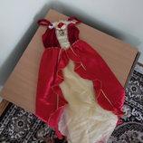карнавал 7-8г костюм принцеса красное Disney Дисней принцесса утренник хеллоуин бель