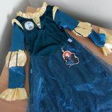 карнавал 5-7 г костюм принцесса софия прекрасна Disney Дисней принцесса утренник принцесса мерида