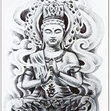 Временное тату для тела Буддизм для клуба, пляж, отпуск