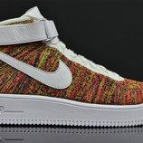 Мужские кроссовки Nike Air Force High Flyknit - желтые