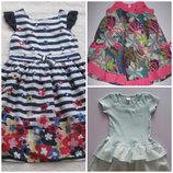 Платья, сарафаны летние M&Co, F&F на 2-4 года
