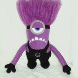 Миньон фиолетовый, злой, Evil - мягкая игрушка ручной работы