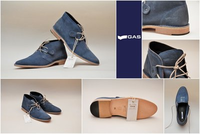 Брендовые ботинки GAS Made in Portugal, размер 42. 100% кожа. Новые