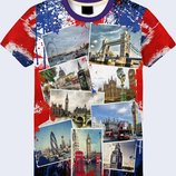 3D футболка фотографии Лондона