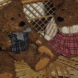 парочка шикарных винтажных английских Мишек медведей 26 см