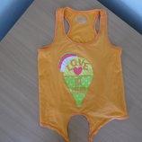 майка блузка 9-10 л футболка желтая оранжевая на море treespirit