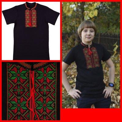Вышиванка - футболка, размеры на рост 104 - 164