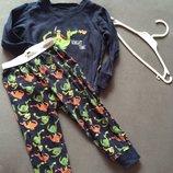 Пижама в динозавры , детская пижама 1,5-3 годика