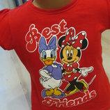 яркая футболочка с Минни и Дейзи 3-4года