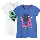 Комплект котонових футболок фірми Lupilu із Гермнії 122-128,134-140