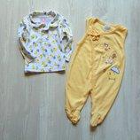 Стильный комплект для модника распашонка человечек. KT kids. Размер 6-9 месяцев