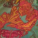 Яркий,сочный, летний, женский сарафан в бабочки сеточка стрейч.S-M, 44-46.