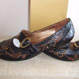 Красивые Туфли-Стразы 100% Кожа